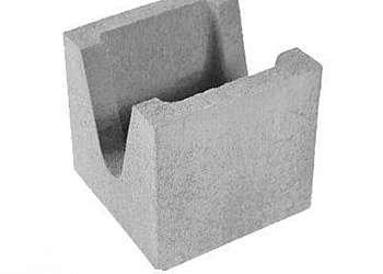 Bloco de concreto canaleta