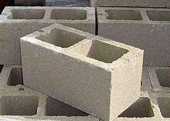 Bloco de concreto fábrica